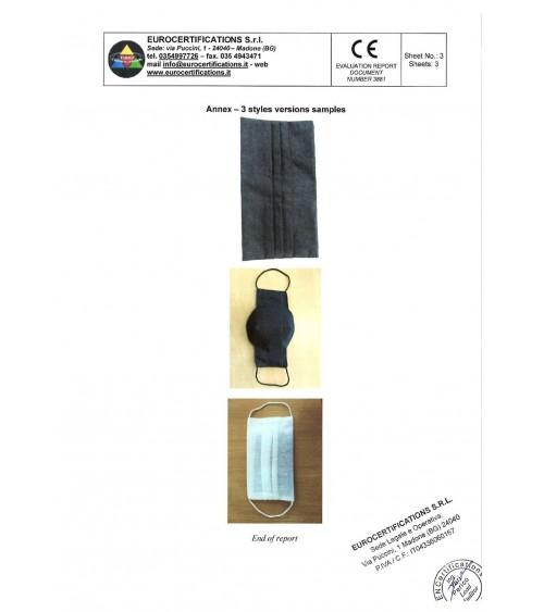 Европейски сертификат  на маска и филтър с активен въглен от кайсиеви костилки разработка на БАН
