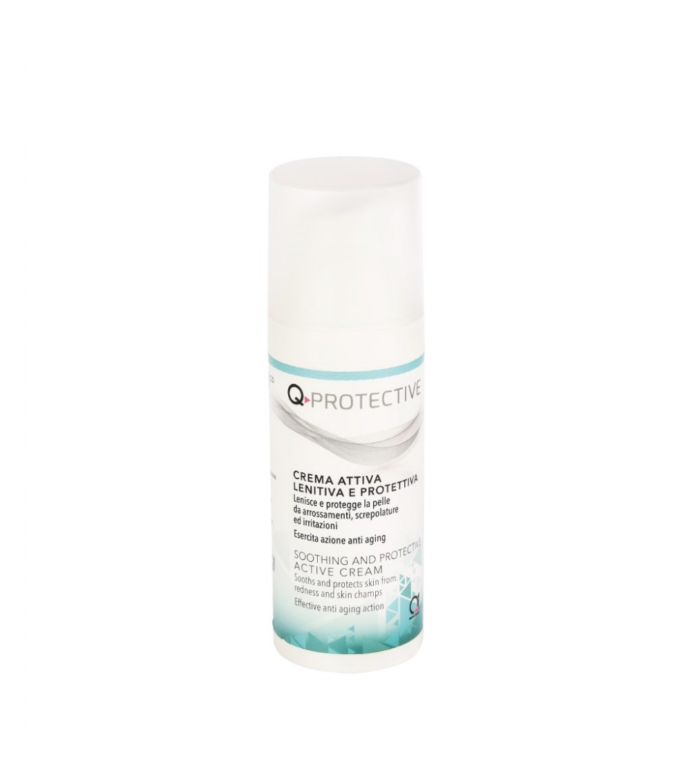 Q-PROTECTIVE is an active anti-oxidant, soothing and protective emulsion for skin.